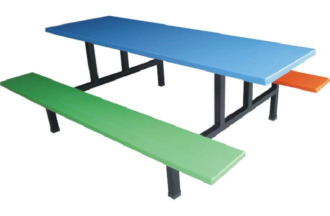 8011六人分体食堂餐桌椅