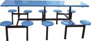 8020十人圆凳食堂餐桌椅